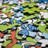 Puzzelchaos für Schulkinder