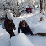Kindergeburtstag in der winterlichen Federseenatur